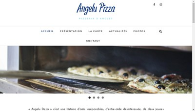Site internet de Angelu Pizza