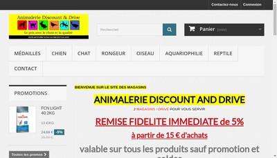Site internet de Animalerie Discount & Drive