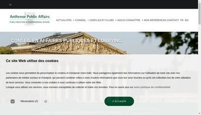 Site internet de Anthenor Public Affairs