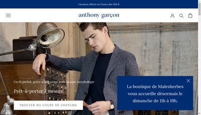 Site internet de Anthony Garcon