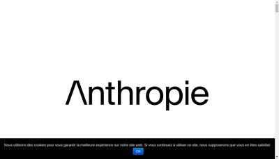 Site internet de Anthropie