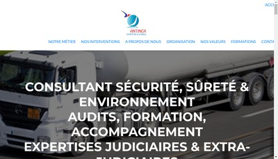 Site internet de Antinea Expertise et Conseil