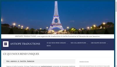 Site internet de Antiope Traductions