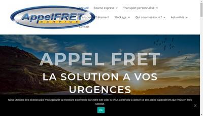 Site internet de Appel Fret Service