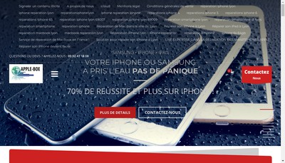 Site internet de Apple-Box