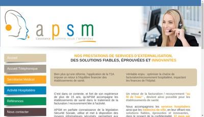 Site internet de Accueil Permanence Secretariat Medical