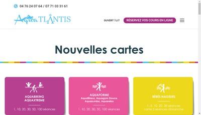 Site internet de Aqua'Tlantis