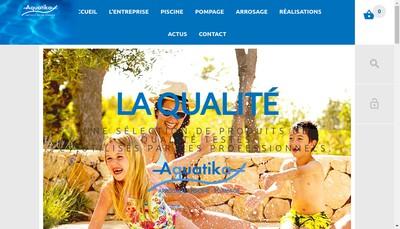 Site internet de Aquatika