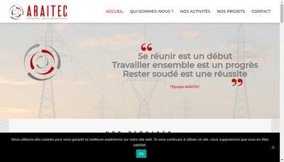 Site internet de Araitec