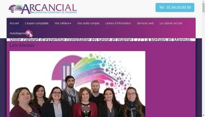 Site internet de Arcancial