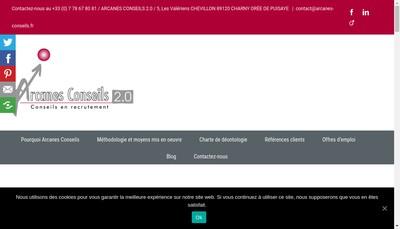 Site internet de Arcanes Conseils 2.0