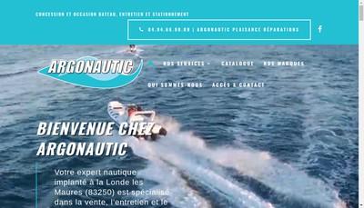Site internet de Argonautic Plaisance Reparations