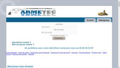 Site internet de Armetec