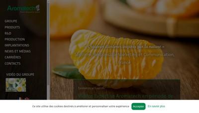Site internet de Aromatech