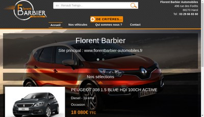 Site internet de FB Automobiles