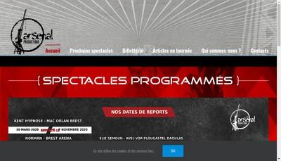 Site internet de Arsenal Productions