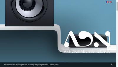 Site internet de Art Digital et Numerique