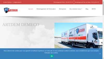 Site internet de Artdem Transports Logistique Mery