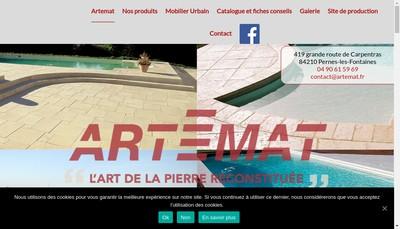 Site internet de Artemat