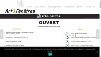 Site internet de Art & Fenetres