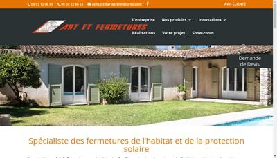 Site internet de Art et Fermetures