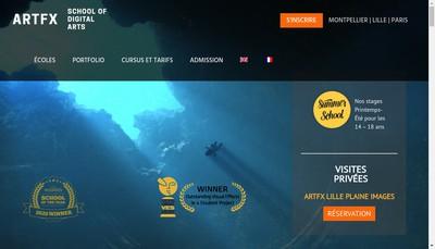 Site internet de Artfx