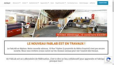 Site internet de Association Artilect