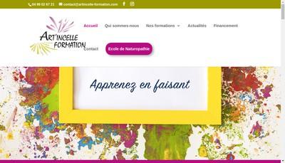 Site internet de Art'Incelle Formation