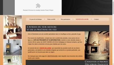 Site internet de Arts et Cheminees SARL