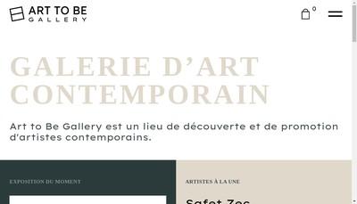 Site internet de Art To Be Gallery