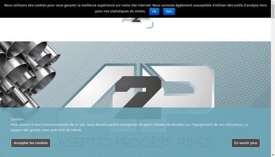 Site internet de Aseptic Process Pipes A2P