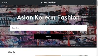 Site internet de Asian Fashion