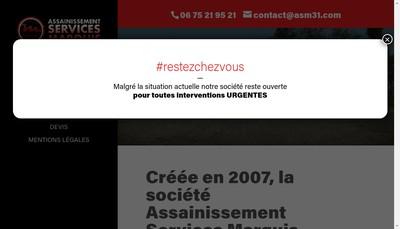 Site internet de Marquis Multiservices