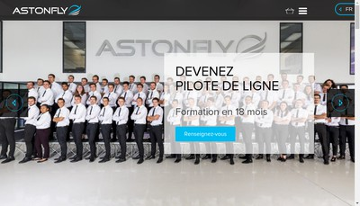 Site internet de Astonfly
