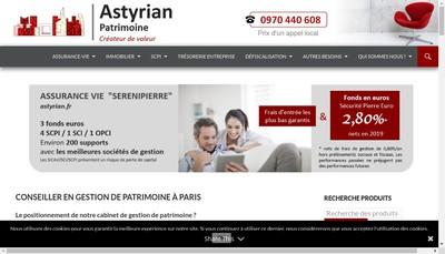 Site internet de Astyrian Patrimoine