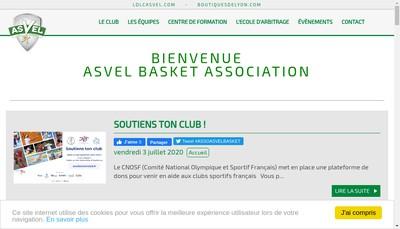 Site internet de Saos Asvel Basket Lyon Villeurbanne