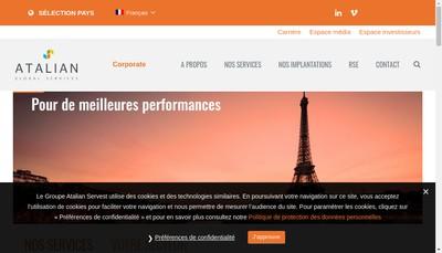 Site internet de Atalian Ingenierie des Services