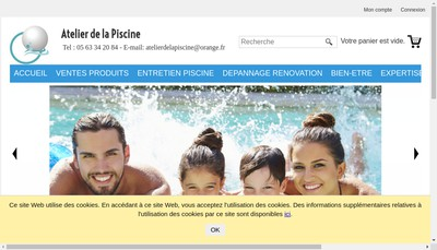 Site internet de Atelier de la Piscine