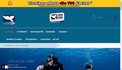 Site internet de L'Atelier de la Mer
