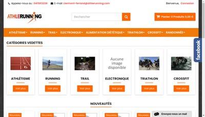 Site internet de Athle Running
