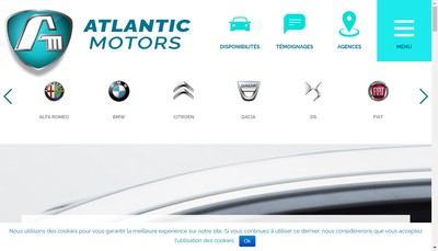 Site internet de Atlantic Motors
