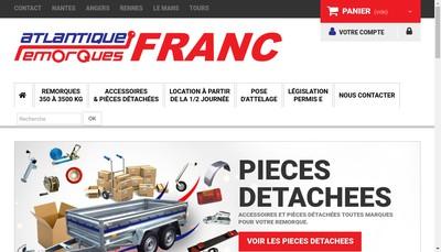 Site internet de Attelages et Remorques 44