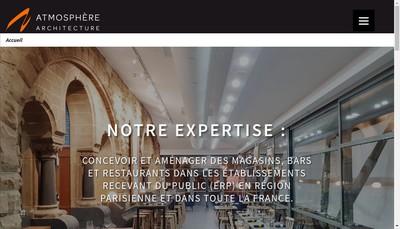 Site internet de SARL Atmosphere Architecture