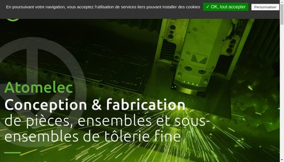 Site internet de Atomelec SA