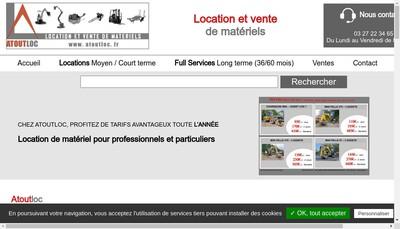 Site internet de Atoutloc - Locations de Materiels