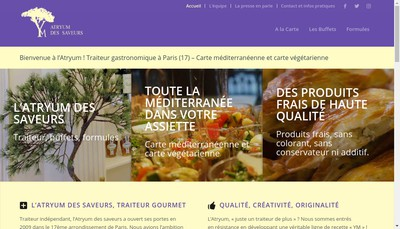 Site internet de L'Atryum des Saveurs