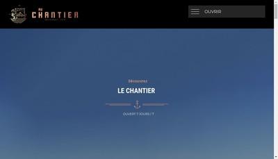 Site internet de Au Chantier