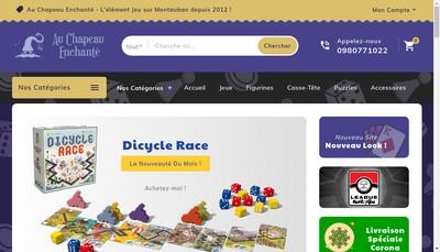Site internet de Au Chapeau Enchante