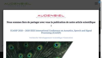 Site internet de Audensiel Healthcare