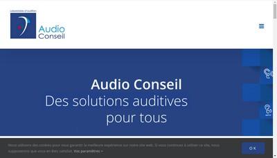 Site internet de Audio Conseil